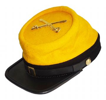 Confederate 1862 Regulation Cavalry Kepi With Badge